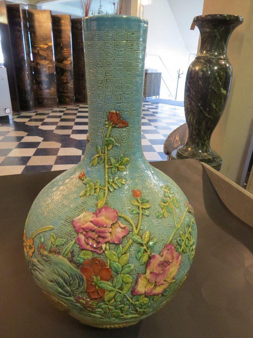 A Chinese Glazed Ceramic Globular Vase. - 2