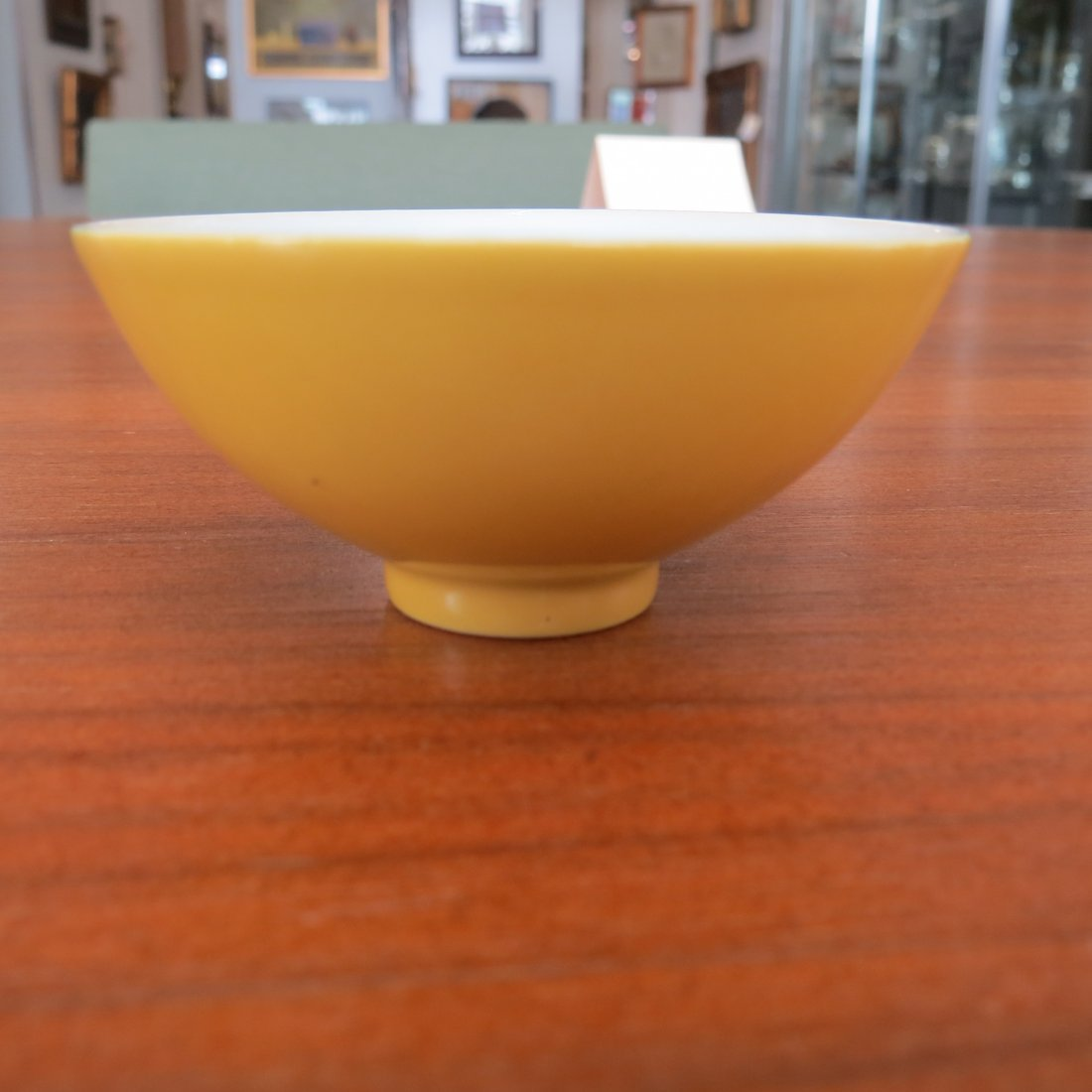 A Chinese Yellow Glazed Porcelain Cup. - 3