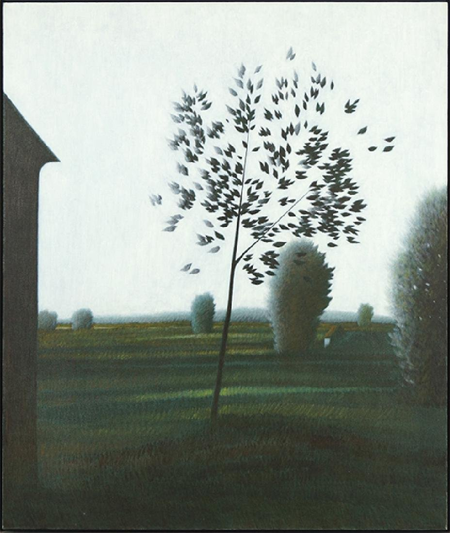 Robert Kipniss (American, B. 1931) Emerald Fields.