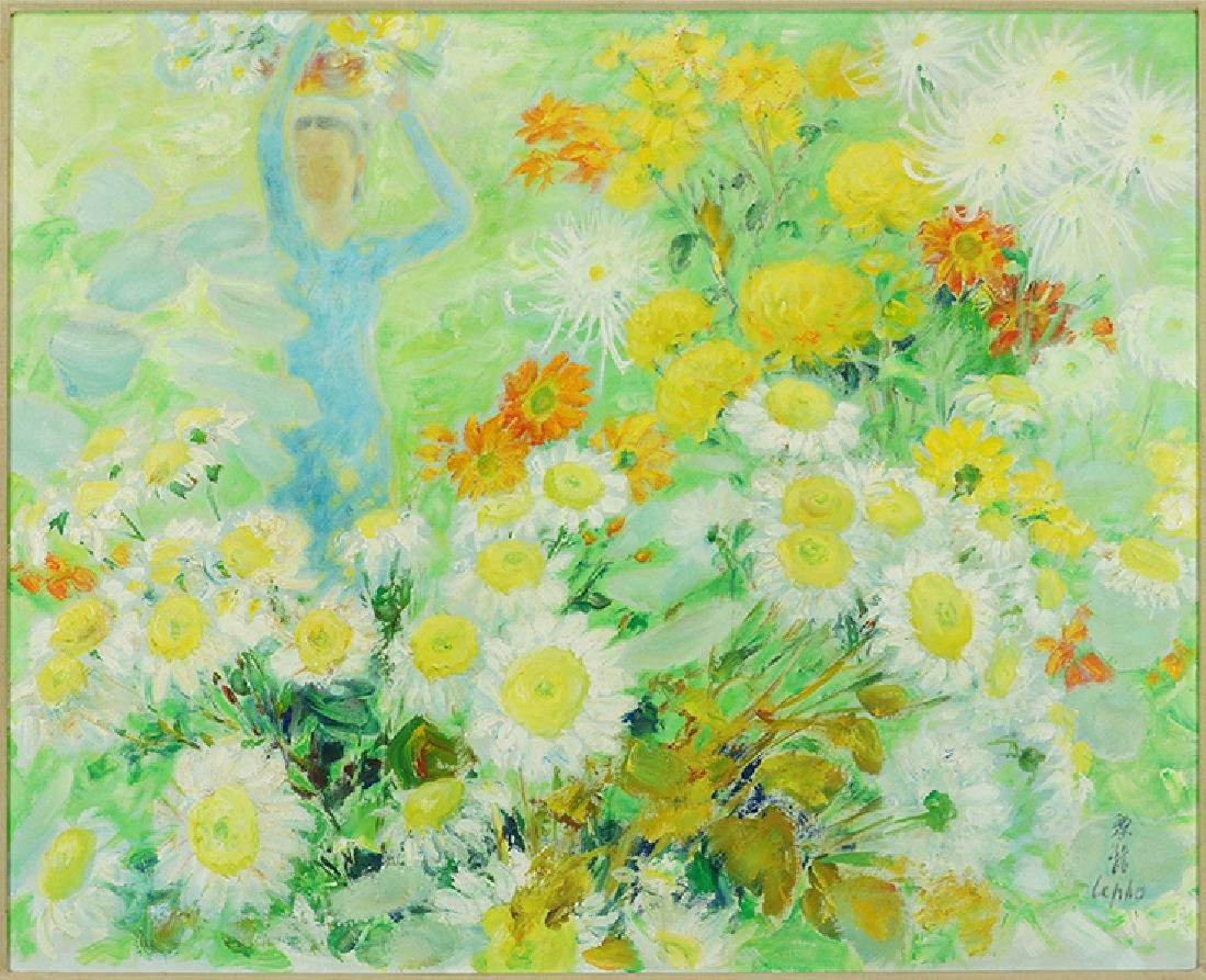 Le Pho (Vietnamese/French, 1907-2001) Le Jardin.