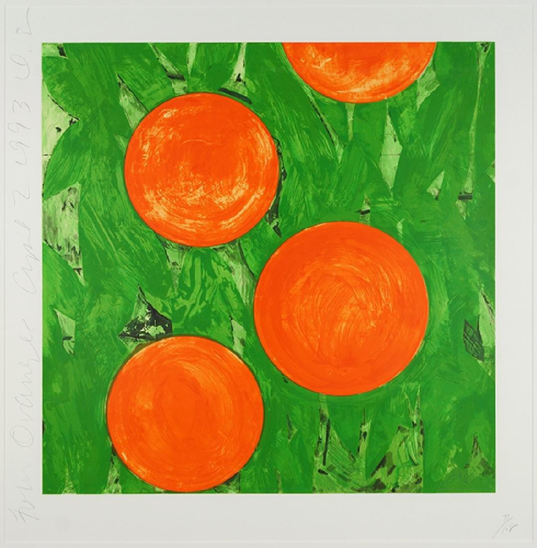 Donald Sultan (American, B. 1951) Four Oranges April 2,