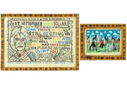 Howard Finster (1916-2001) Two Lithographs.