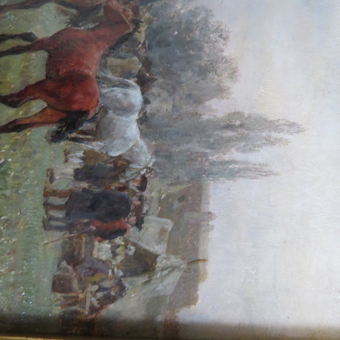 Wilhelm Velten (Russian, 1847-1929) German Horsefair. - 3