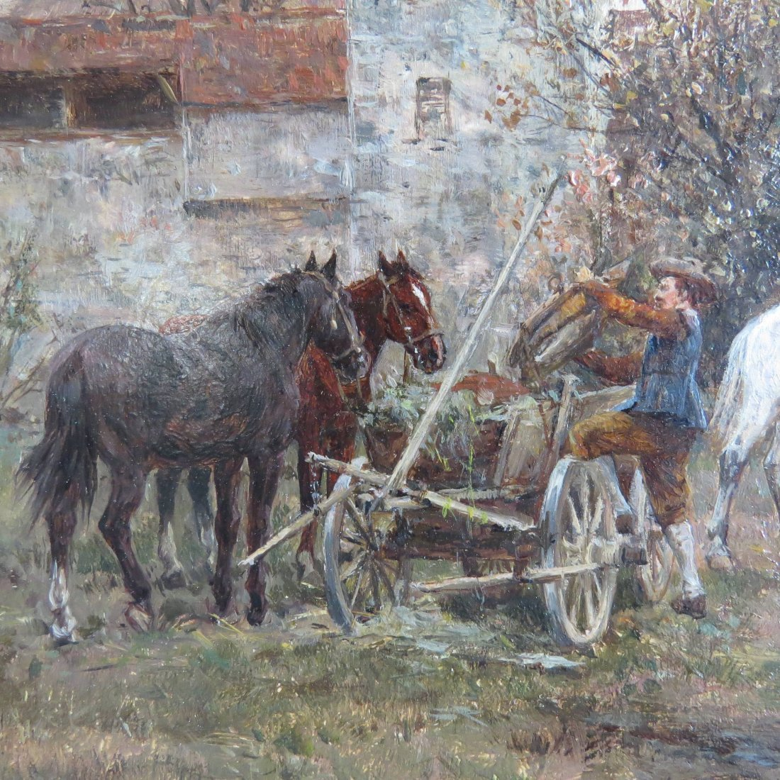 Wilhelm Velten (Russian, 1847-1929) German Horsefair. - 5