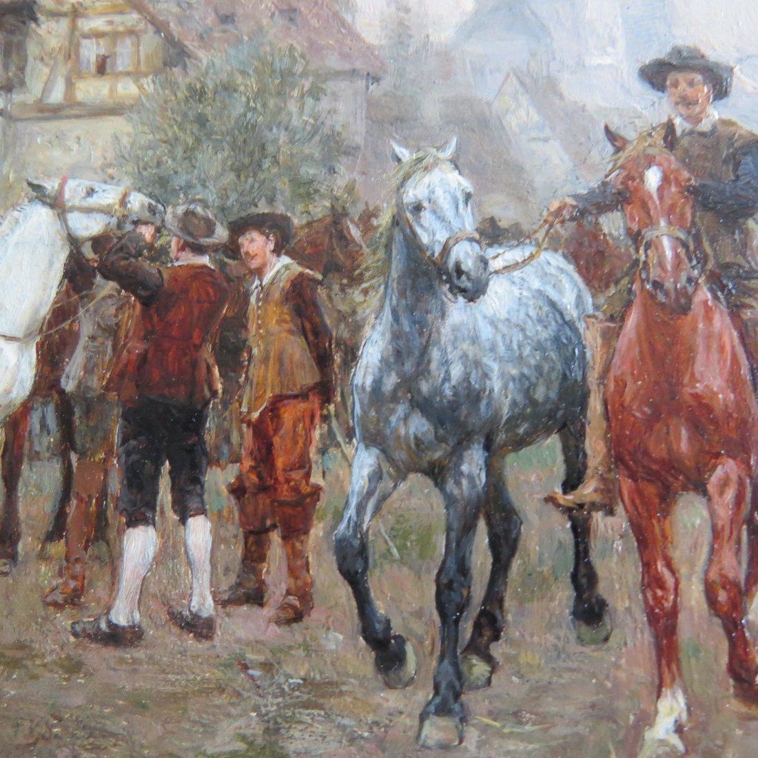 Wilhelm Velten (Russian, 1847-1929) German Horsefair. - 6
