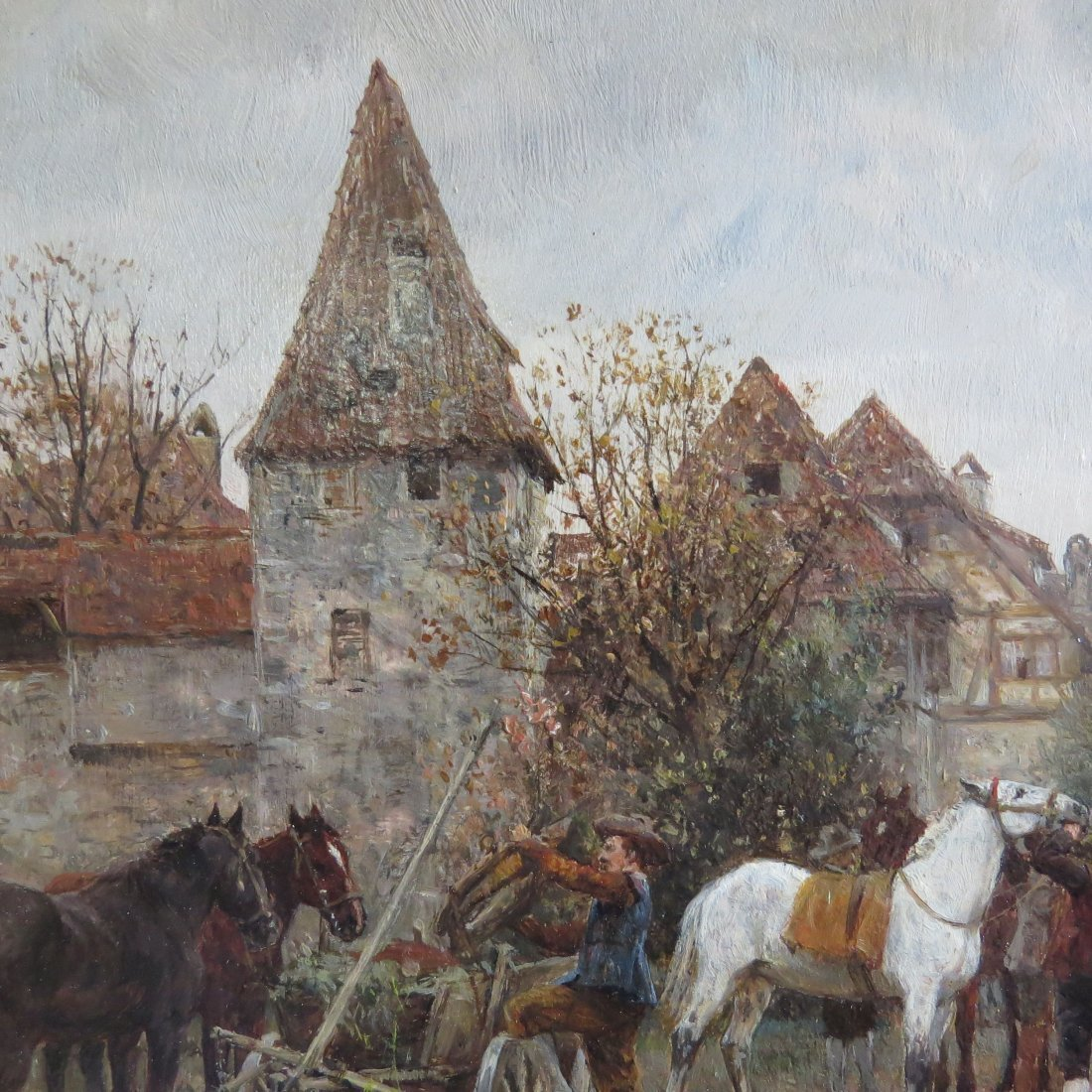 Wilhelm Velten (Russian, 1847-1929) German Horsefair. - 7