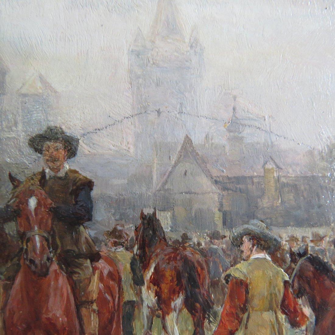 Wilhelm Velten (Russian, 1847-1929) German Horsefair. - 8