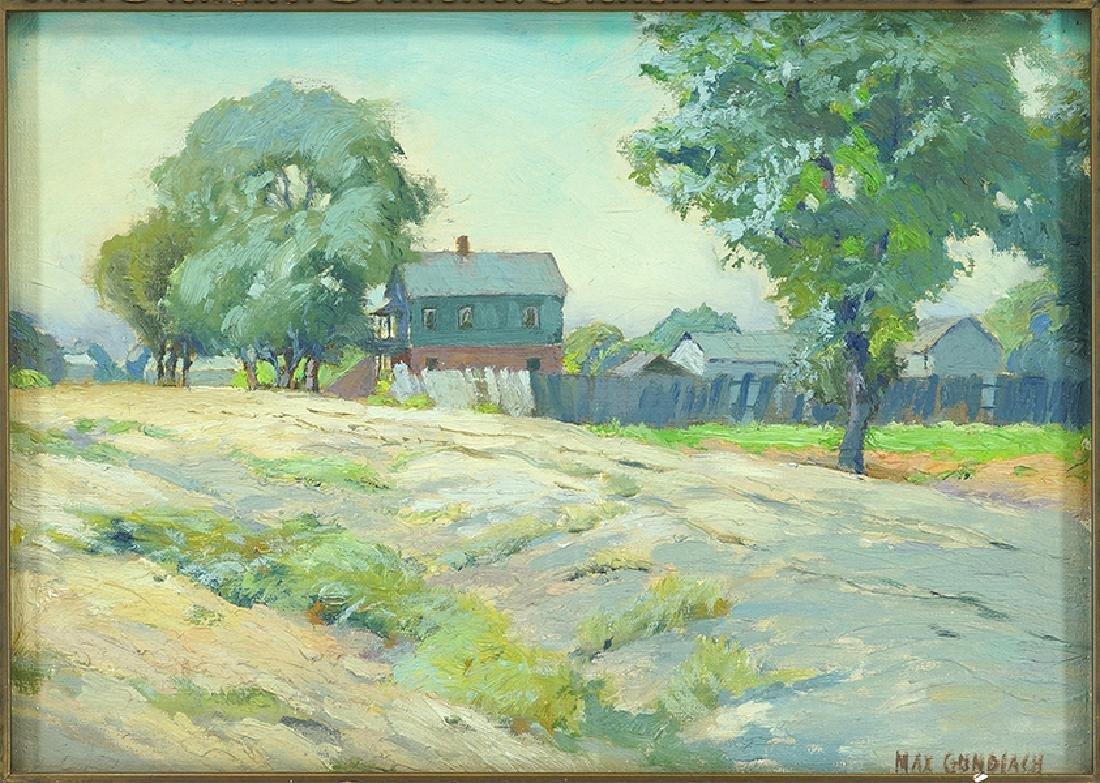 Max Gundlach (American, 1863-1957) Countryside Home.
