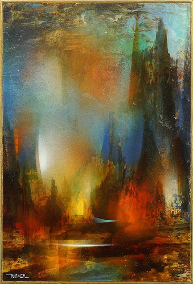 Leonardo Nierman (Mexican, B. 1932) Enchanted Valley.