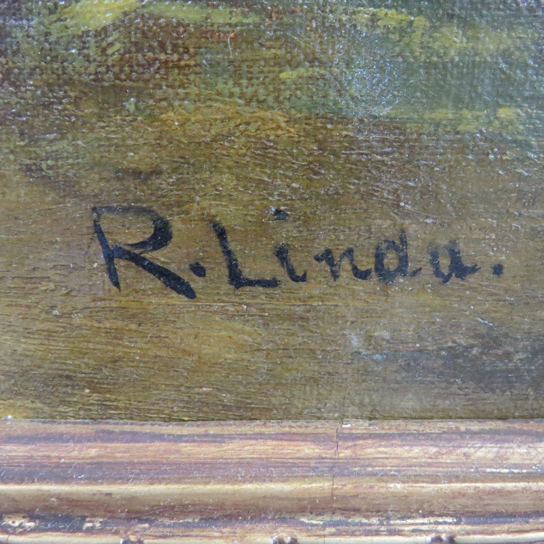 R. Linda (19th Century) Sheep in the Barn. - 3