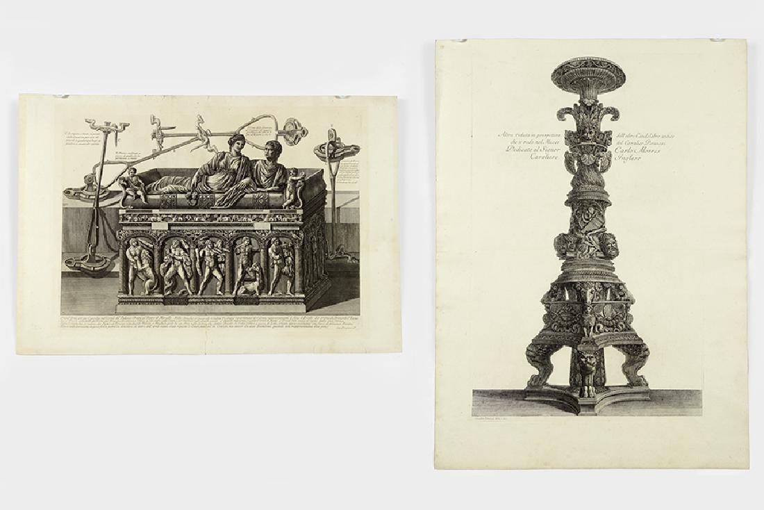 Giovanni Battista Piranesi (Italian, 1720-1778) Two