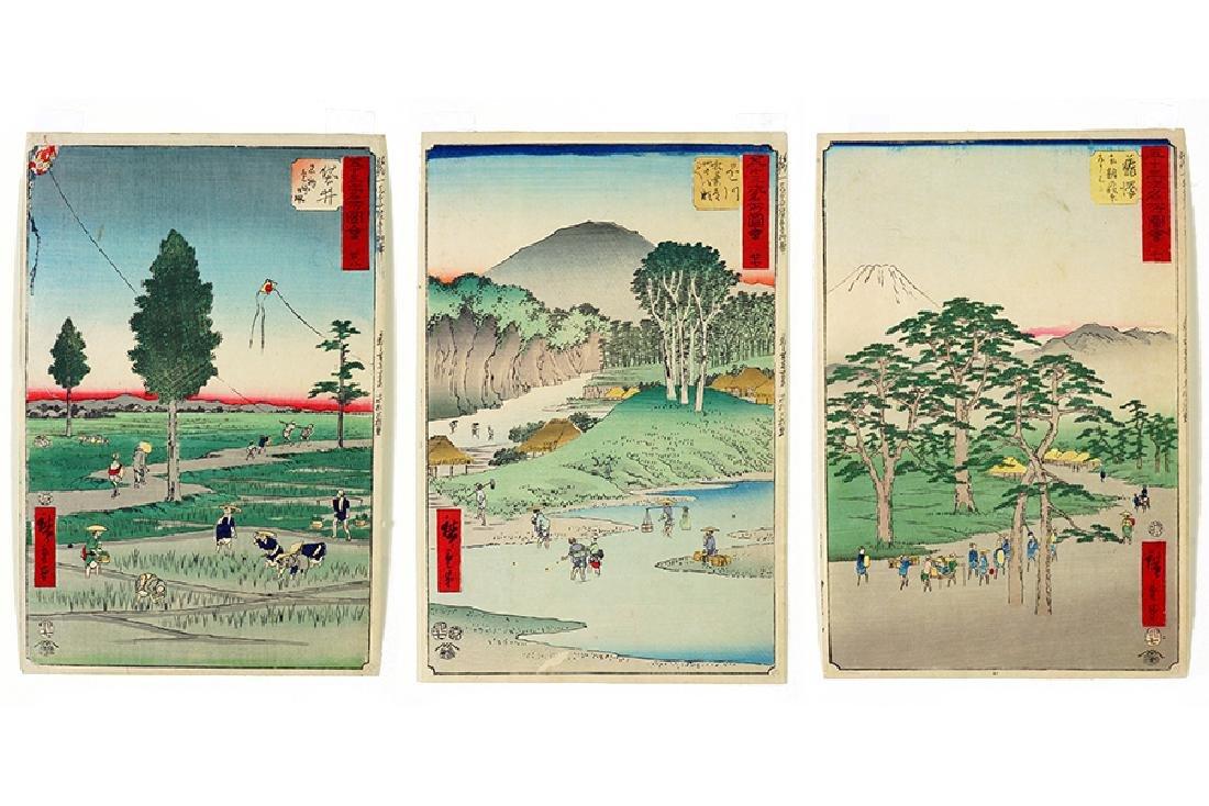 Hiroshige I (Japanese, 1797-1858) Three Works.