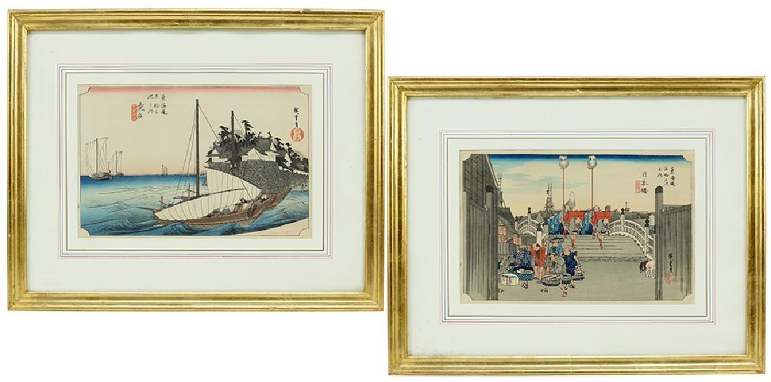 Two Japanese Woodblock Prints. - 2