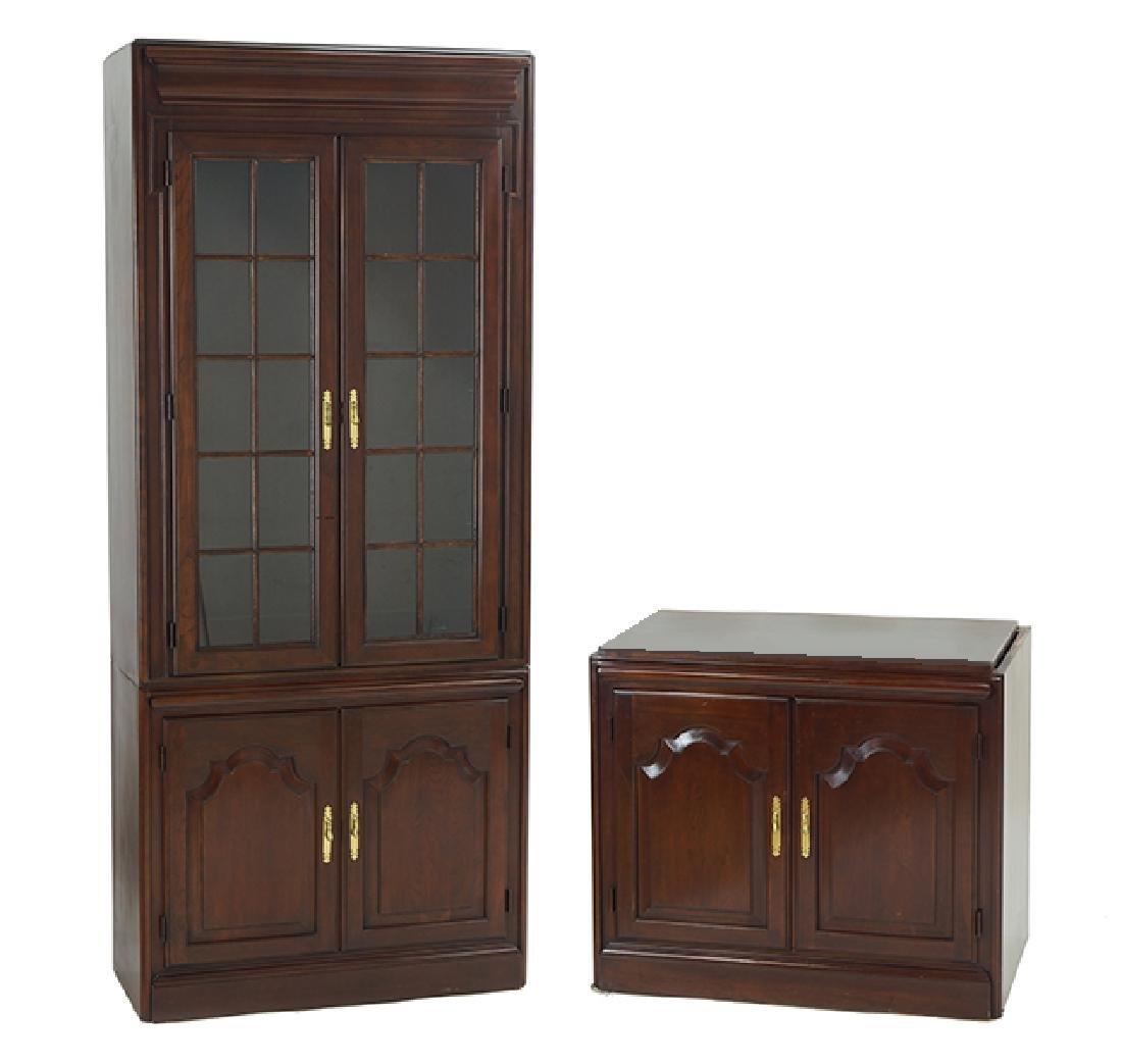 A Bookcase Cabinet.