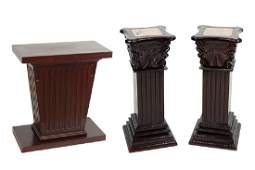 A Pair Of Wood Pedestals