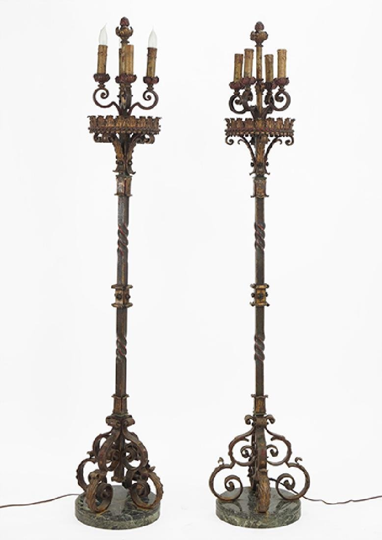 A Pair of Torchieres.