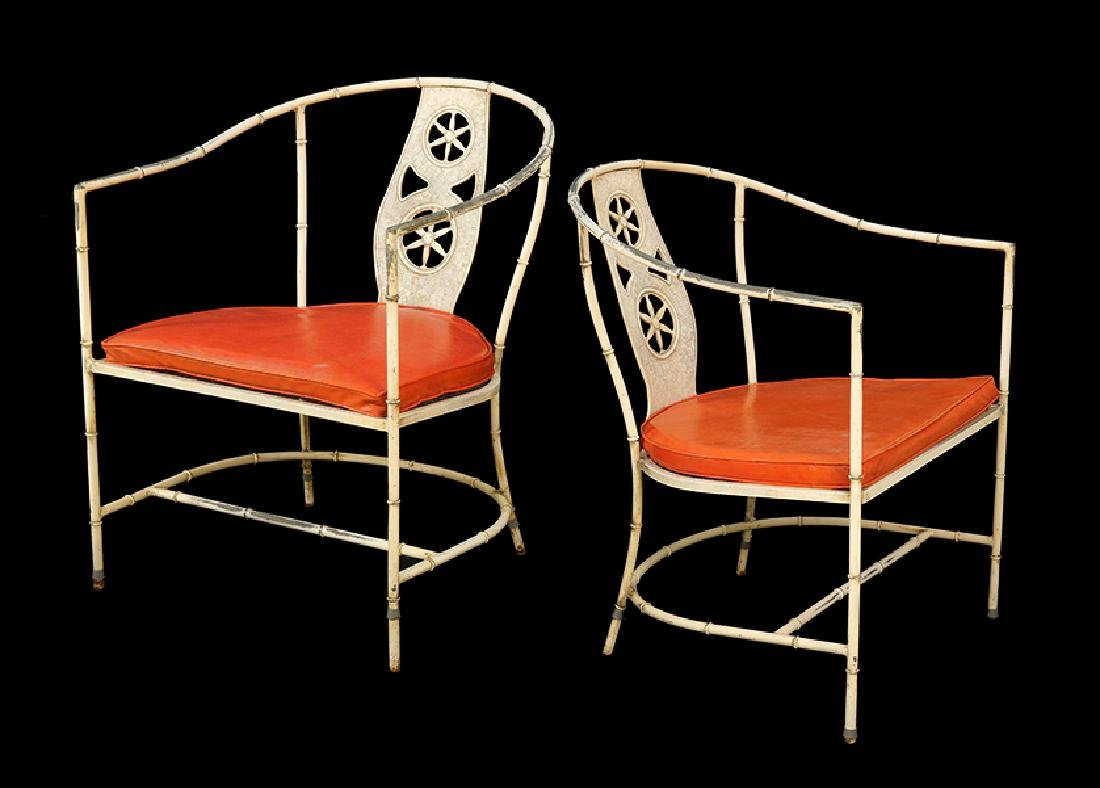A Set of four Salterini Metal Chairs.