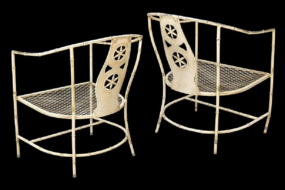 A Set of four Salterini Metal Chairs. - 2