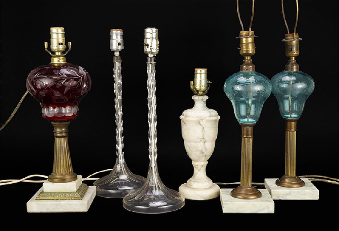 A Collection Of Table Lamps.