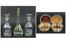 A Val St. Lambert Cut-To-Clear Crystal Decanter.