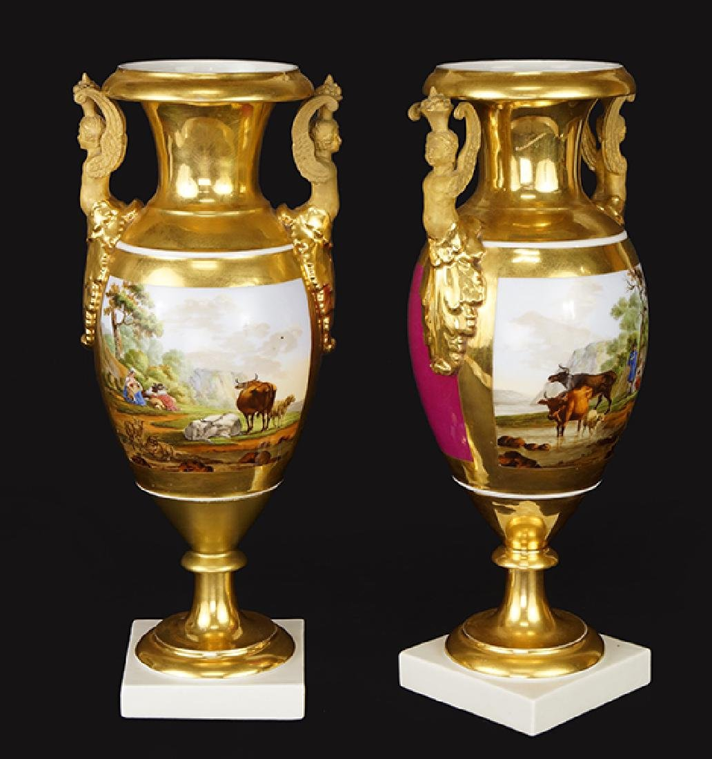 A Pair of Continental Porcelain Vases.
