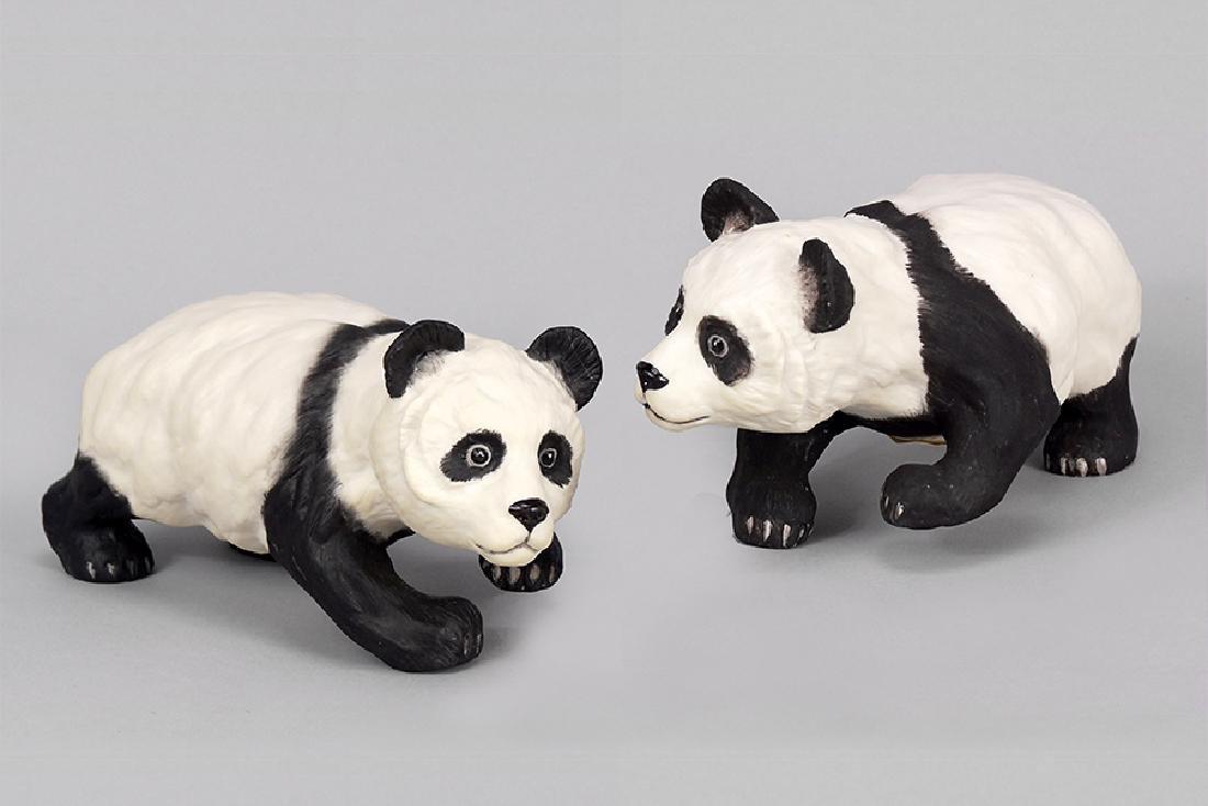 Two Boehm Porcelain Pandas.