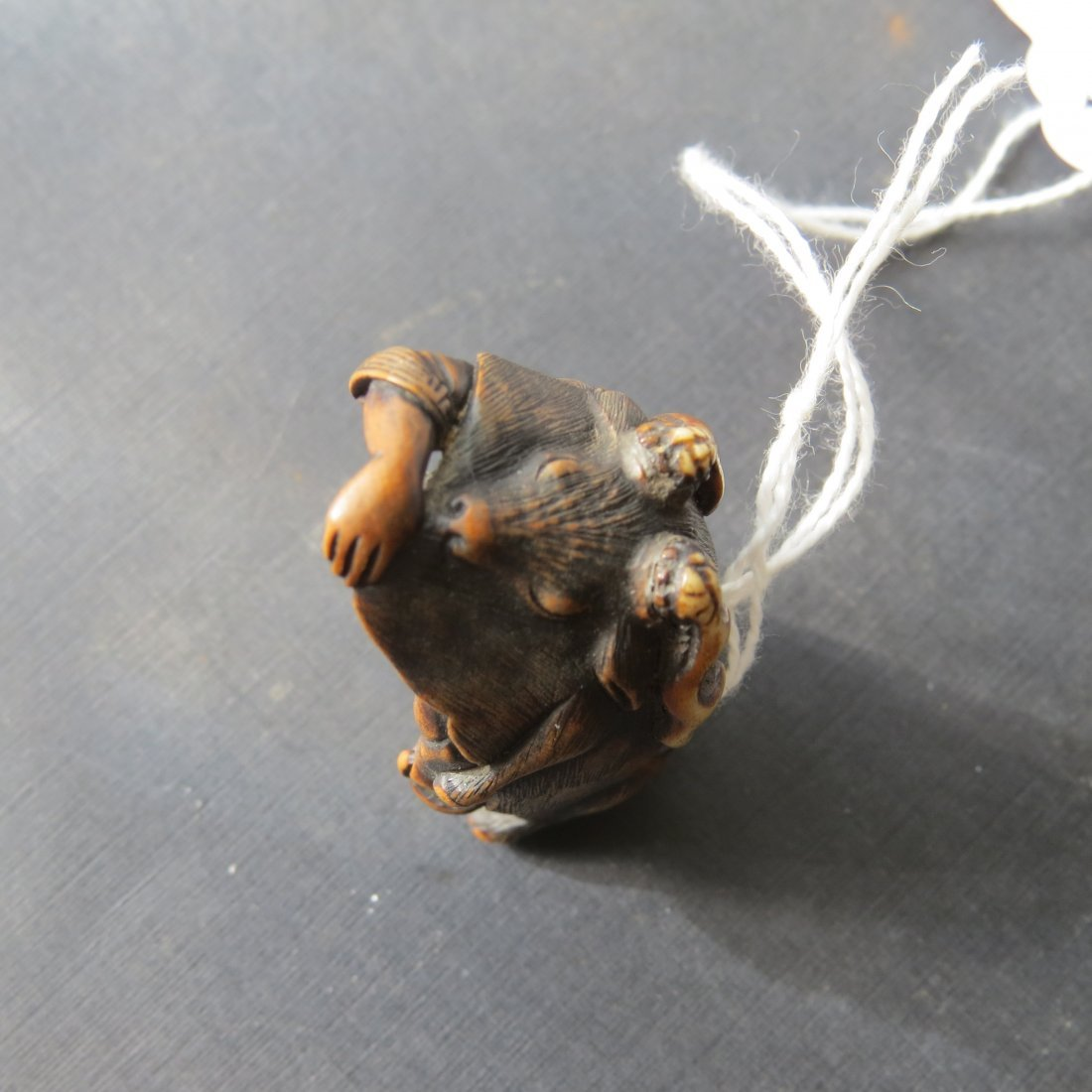 A 19th Century Carved Wood Netsuke. - 4