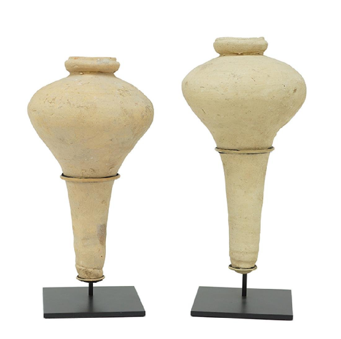 A Near Pair of 20th Century Southeast Asian Vessels.