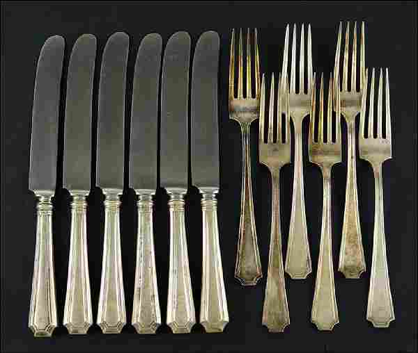 An American Sterling Silver Partial Flatware Service.
