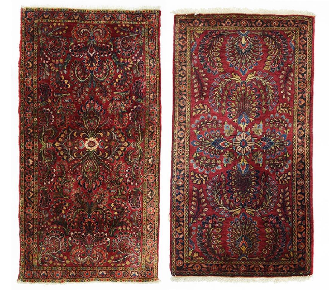 Two Sarouk Rugs.