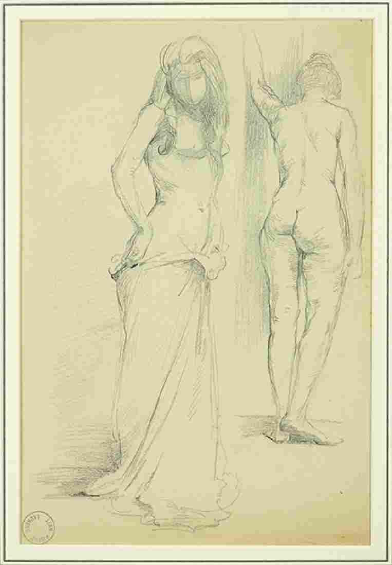 Jean Pierre Laurens (French, 1875-1932) Two Models.