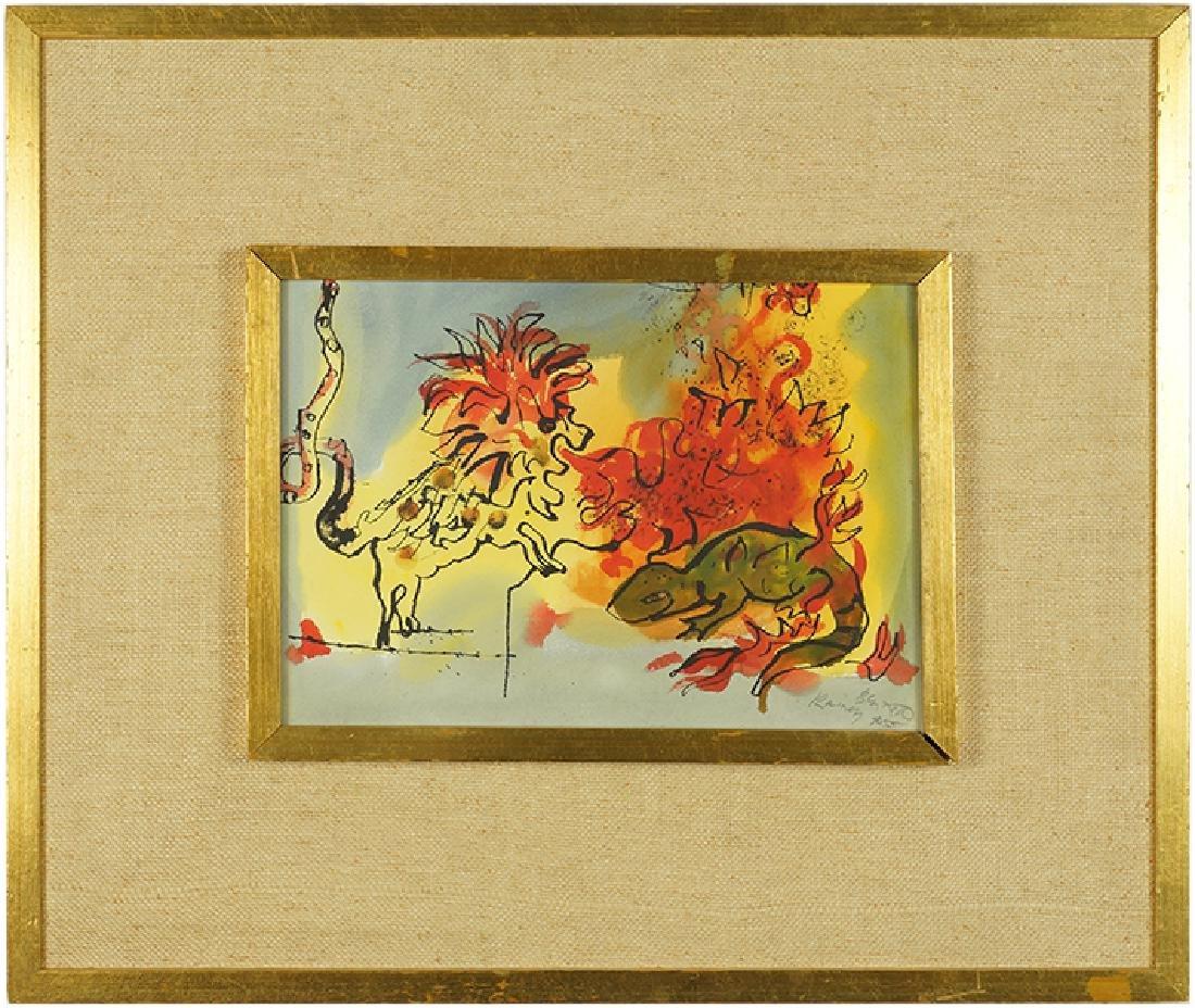 Rainey Bennett (American, 1907-1998) Lion and Lizard. - 2