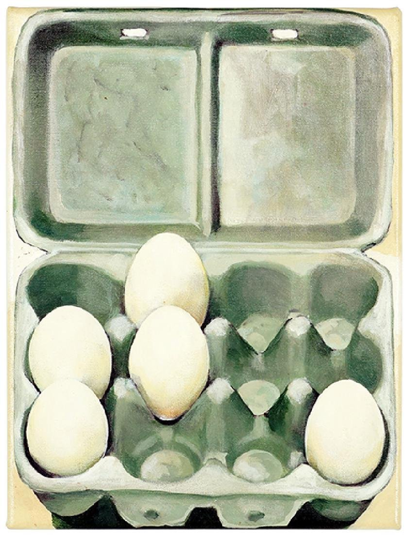 Jan Miller (American, Contemporary) A Crate of Eggs.