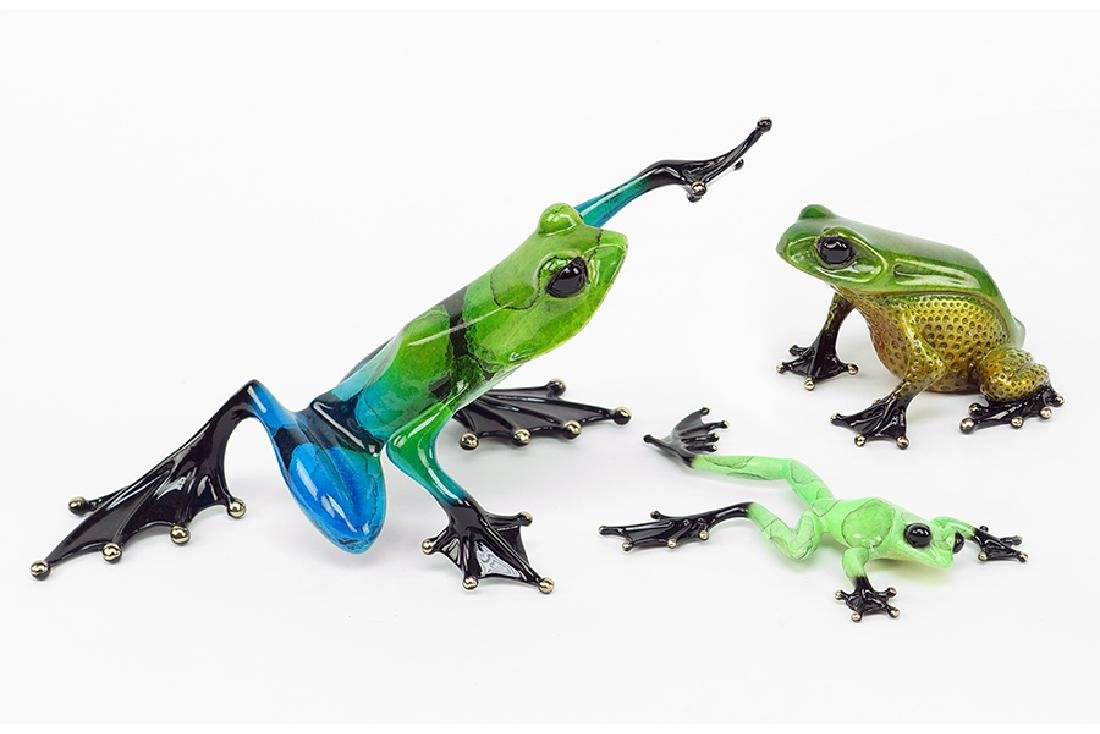 Tim Cotterill (British, 1950) Three Frogs.