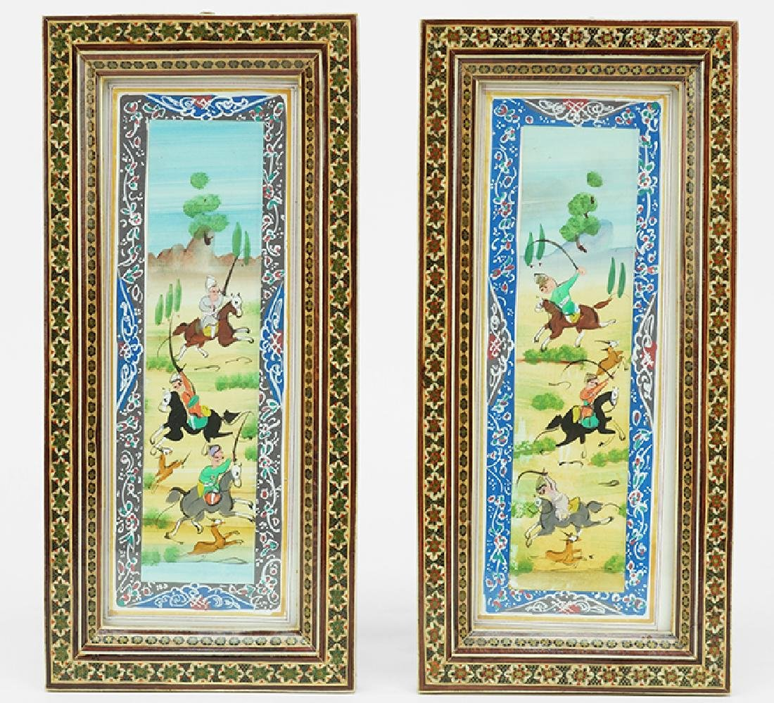 Two Persian Miniatures.