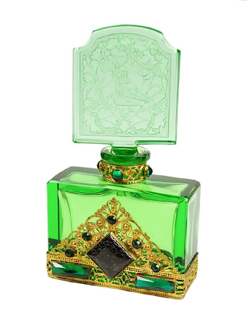 A 1930s Czechoslovakian Hoffman Perfume Bottle.