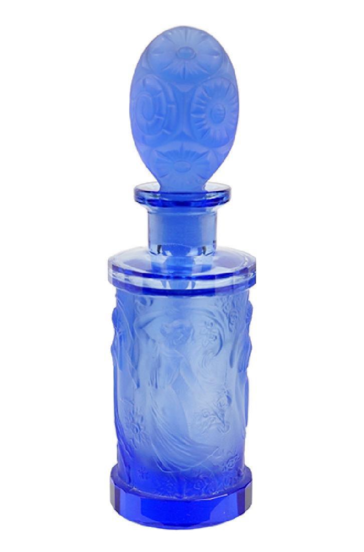 A 1930s Hoffmann Czechoslovakian Blue Crystal Perfume