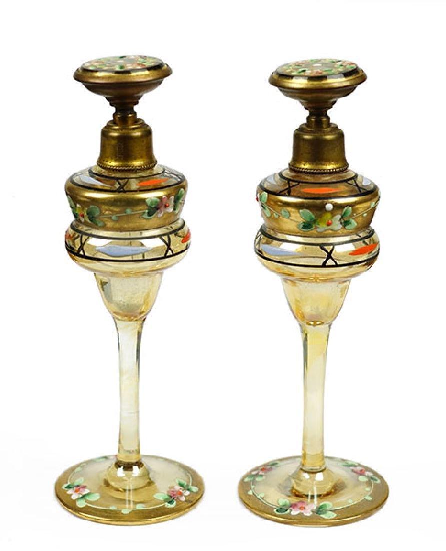 Two Czechoslovakian Perfume Bottles.