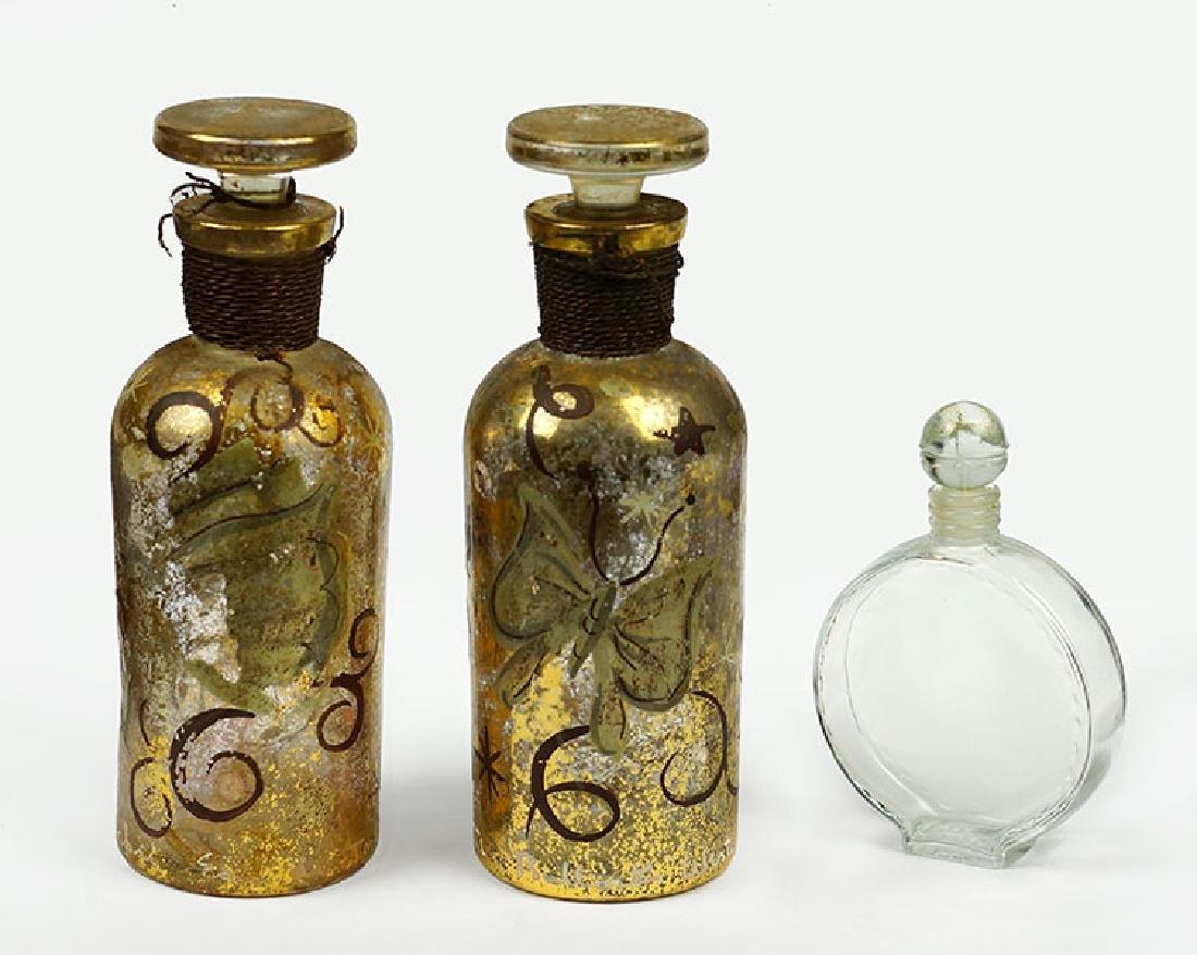 Three Vintage Perfume Bottles.