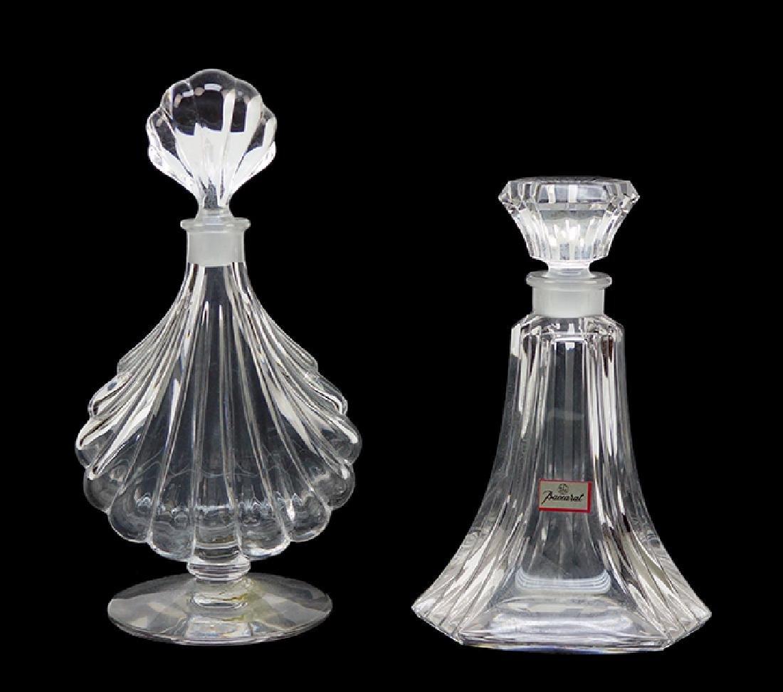 Two Baccarat Crystal Perfume Bottles.
