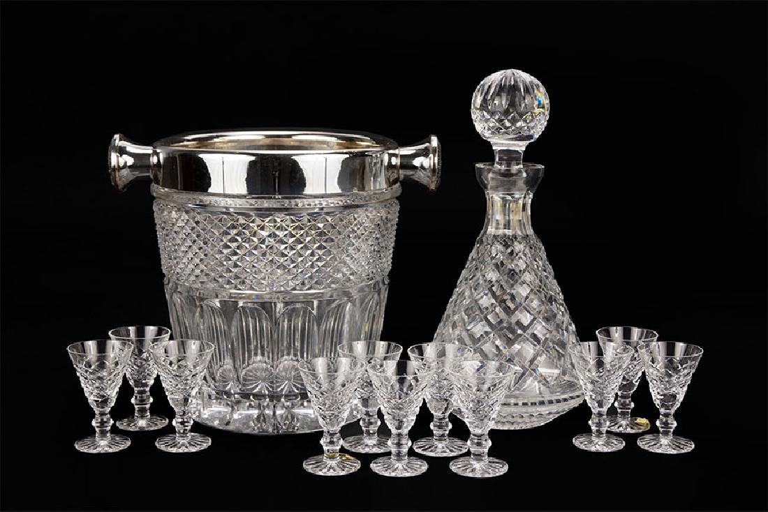 A Set of Eleven Waterford Crystal Cordials.