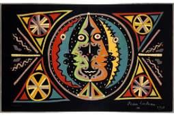 Jean Cocteau French 18991963 Deux Tetes de Profil