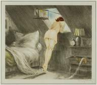 Louis Icart French 18881950 Attic Room Sous le