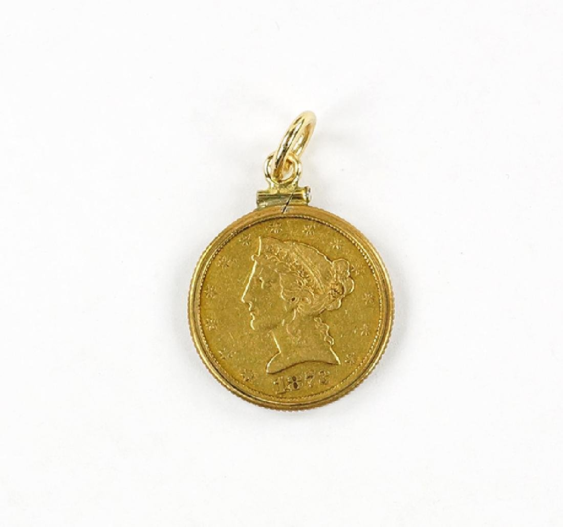An American Gold Coin Pendant.