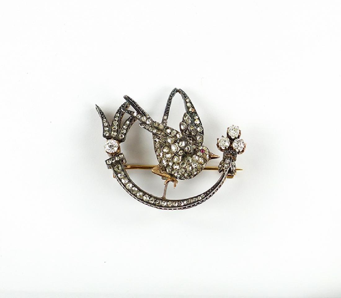 A Victorian Diamond Trembler Brooch.