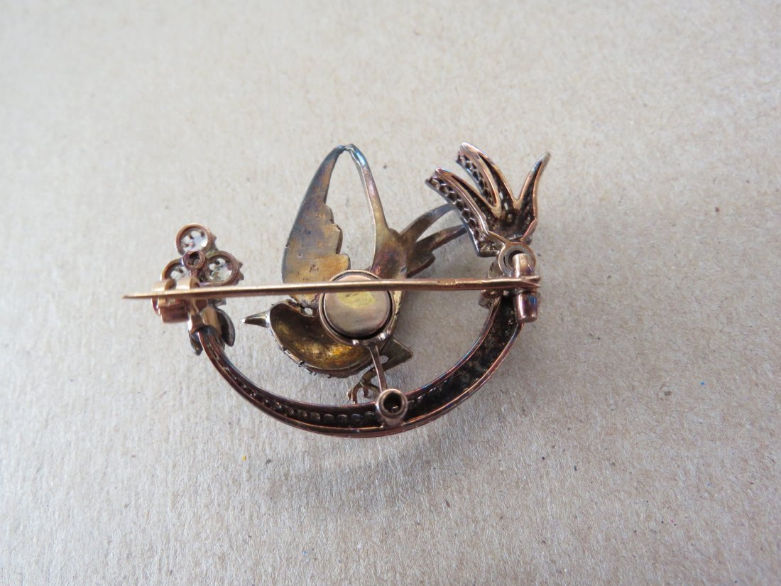 A Victorian Diamond Trembler Brooch. - 3