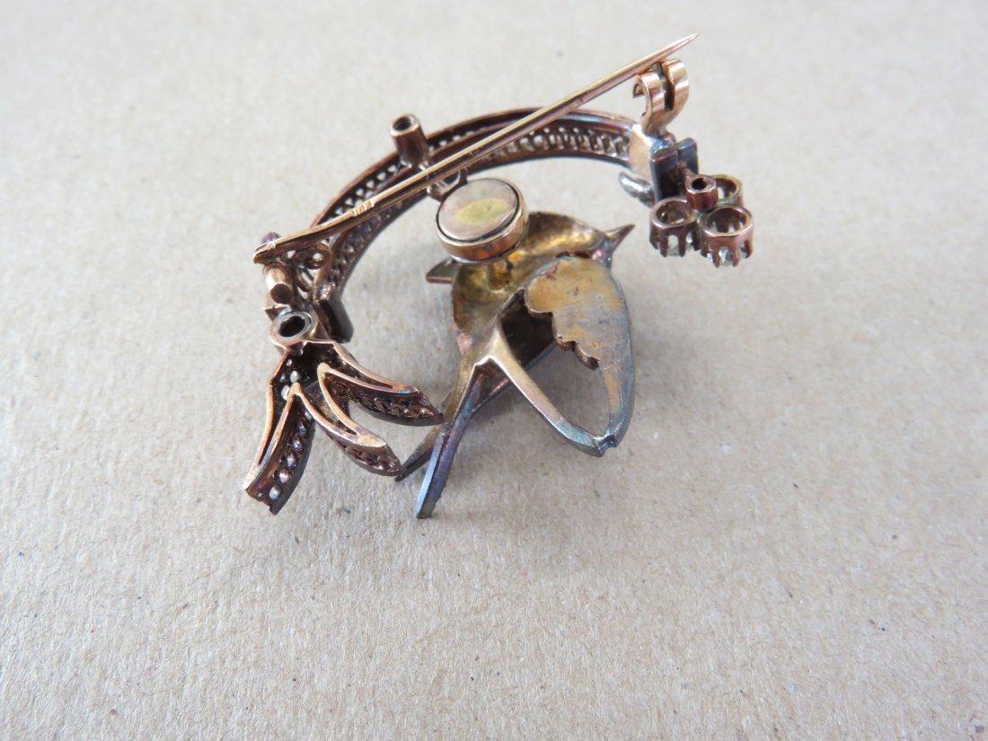A Victorian Diamond Trembler Brooch. - 4