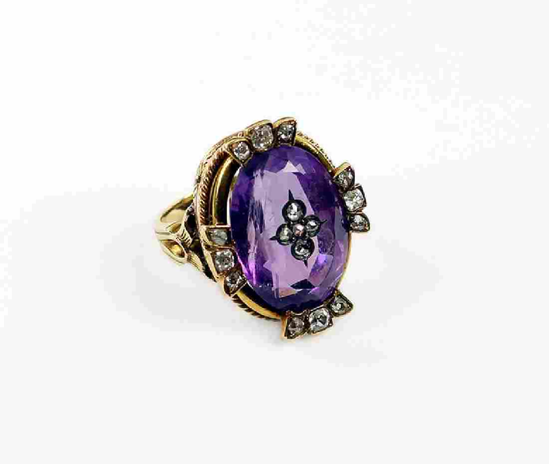 A Late Victorian Amethyst Ring.