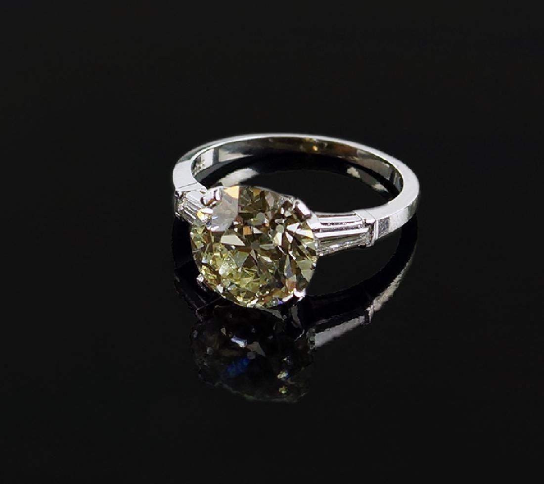 A Diamond & Platinum Ring.