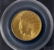 1926 $10 Indian Head Gold Coin PCGS MS62.